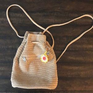 The Sak Crochet Backpack Beige Tan Boho